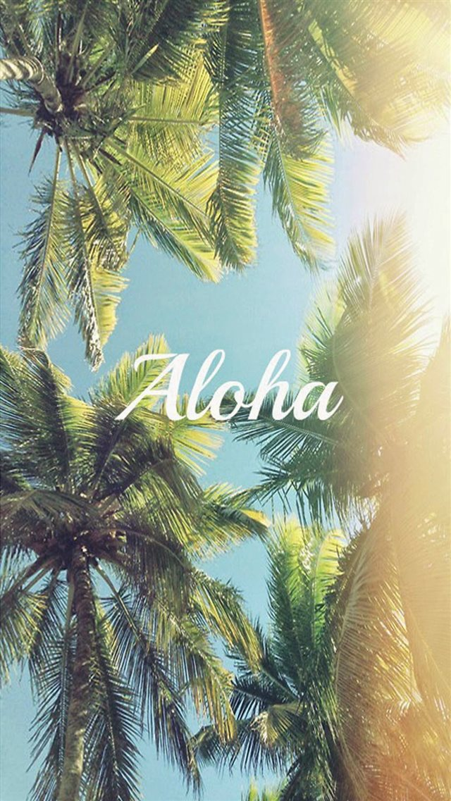 Aloha Palm Trees iPhone 8 wallpaper