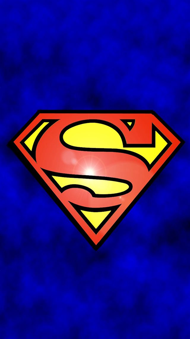 Abstract Funny Superman Logo iPhone 8 wallpaper