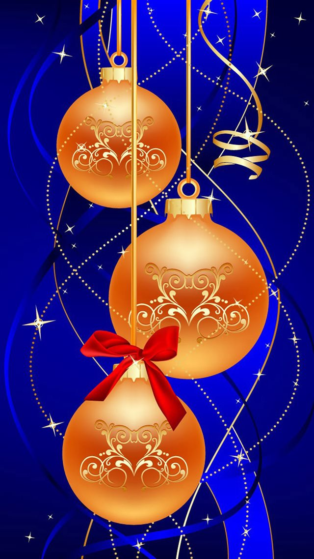 Merry Christmas Ball iPhone 8 wallpaper