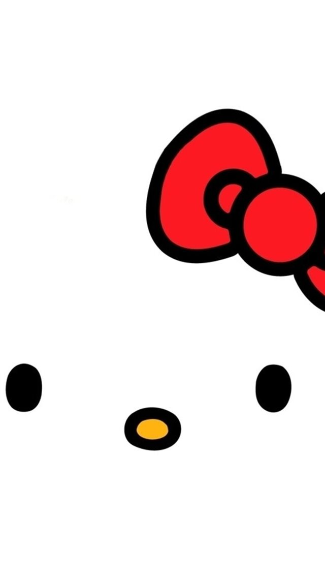 Cartoon Hello Kitty Background iPhone 8 wallpaper