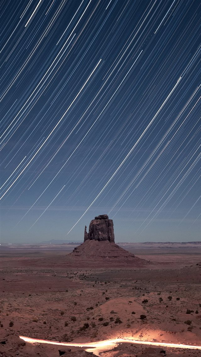 Monument Valley Meteor Shower iPhone 8 wallpaper