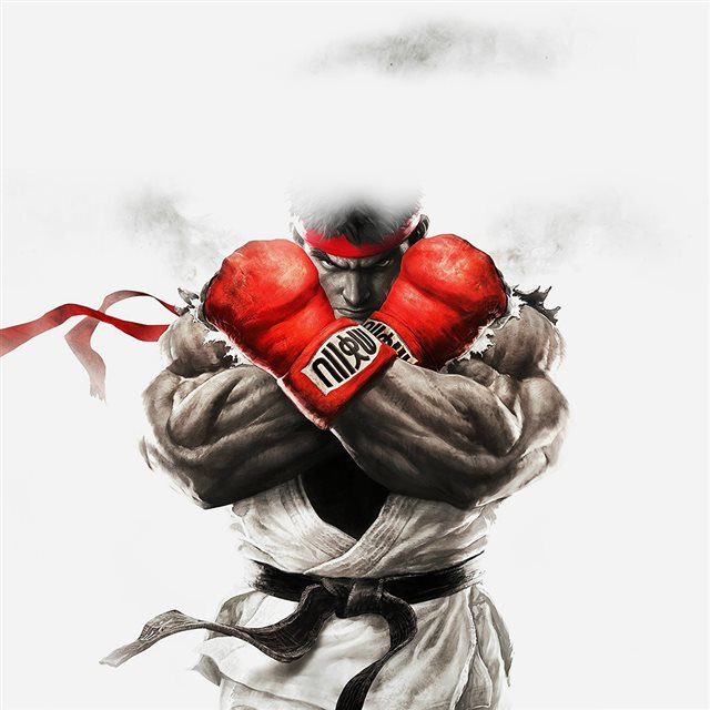 Street Fighter Ryu Rrt Illust Game iPad wallpaper