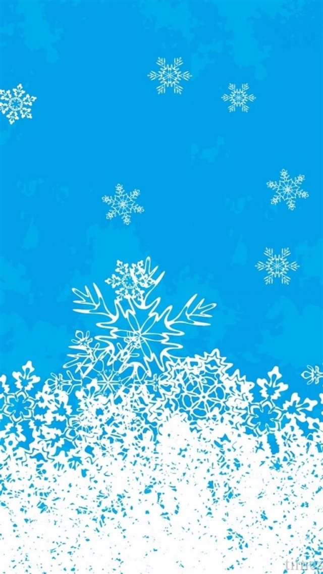 Merry Christmas Snowflake Background iPhone 8 wallpaper