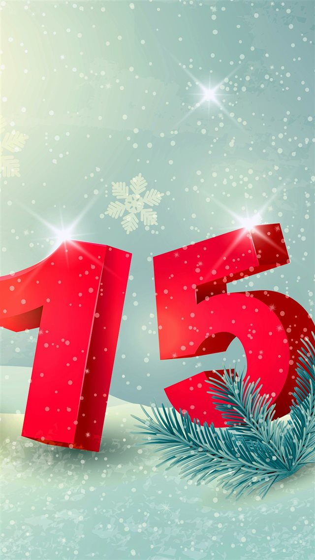 2015 New Year Fun iPhone 8 wallpaper
