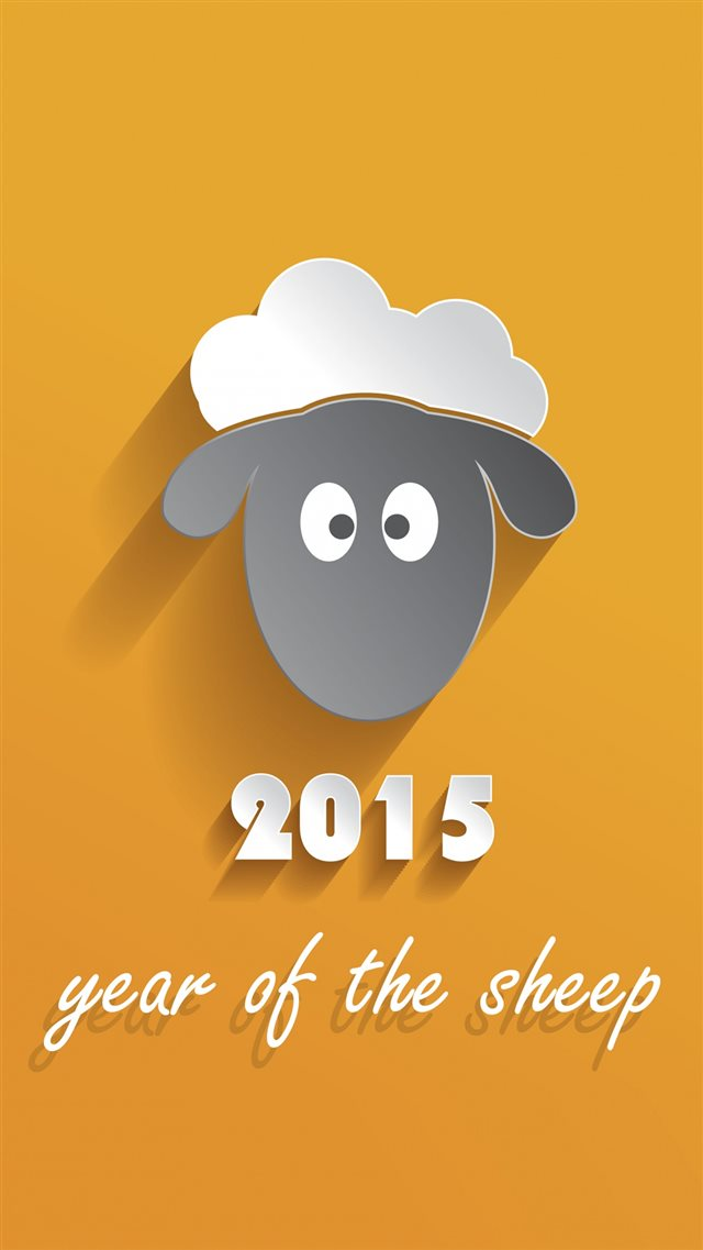 2015 Year Of Sheep iPhone 8 wallpaper