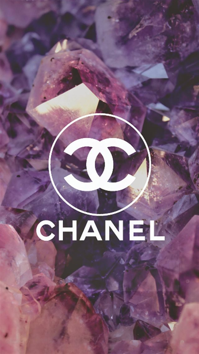 Coco Chanel Logo Diamonds iPhone 8 wallpaper
