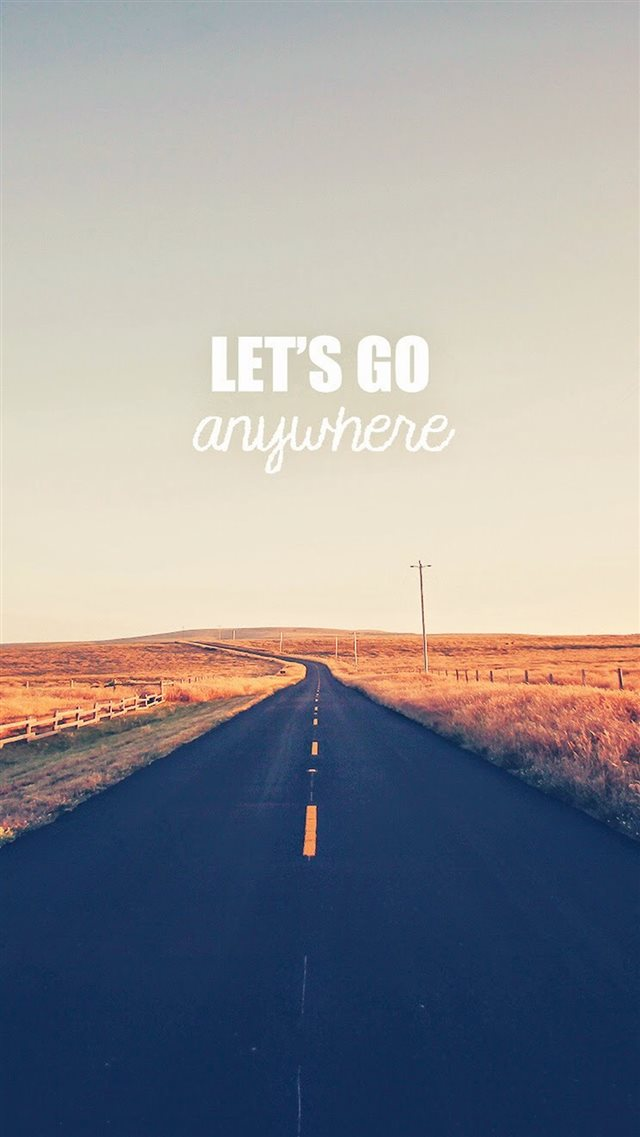 Go Anywhere Road iPhone 8 wallpaper