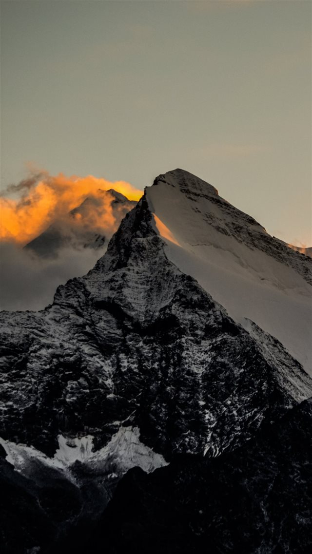 Himalaya Mountains Sunset Fire iPhone 8 wallpaper
