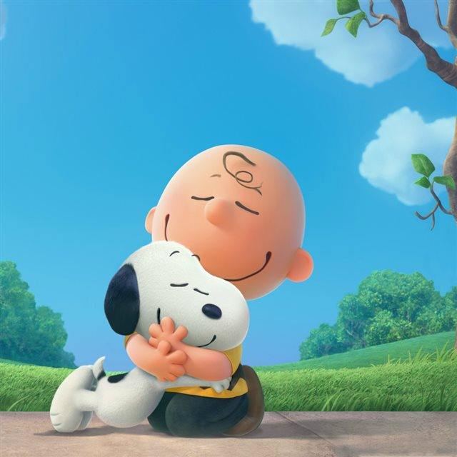 Snoopy And Charlie iPad wallpaper