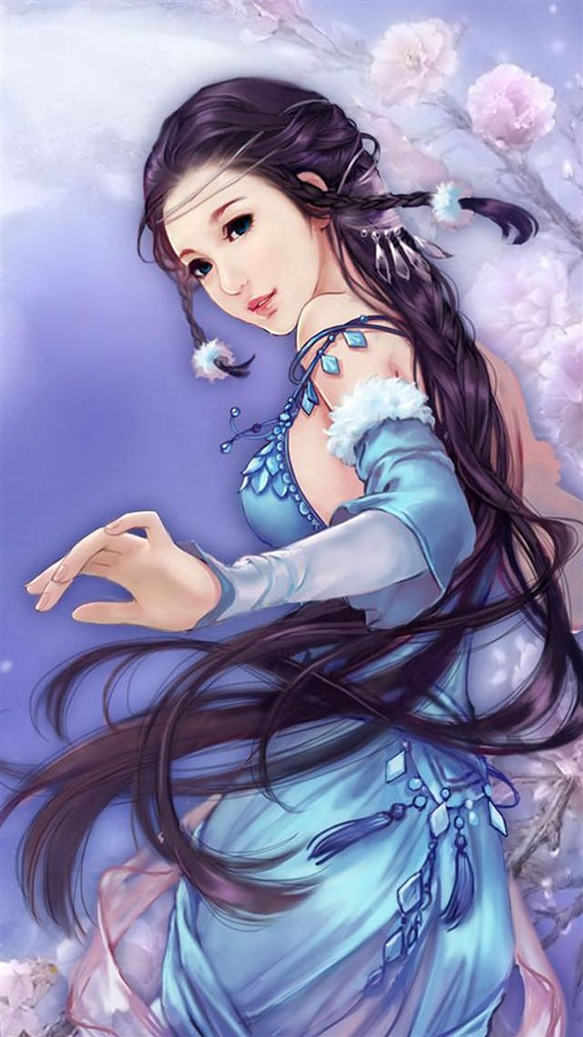 Anime Dreamy Fantasy Ancient Beauty iPhone 8 wallpaper