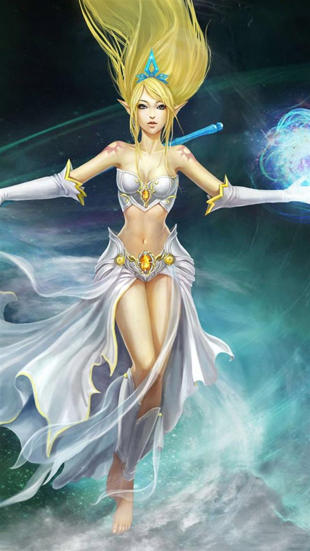 LOL Anime Moon Goddess iPhone 8 wallpaper