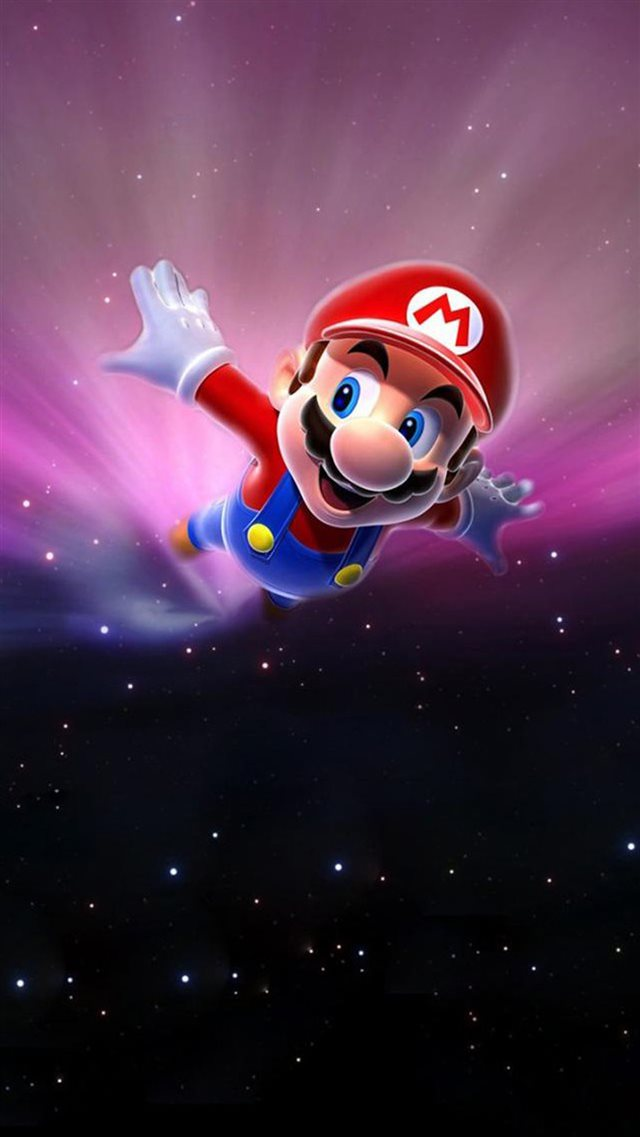 Super Mario Flying Poster Background iPhone 8 wallpaper