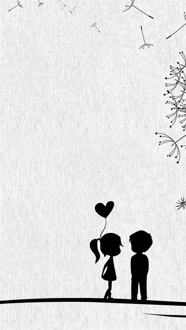 Cute Sweet Love Little Couple iPhone 8 wallpaper