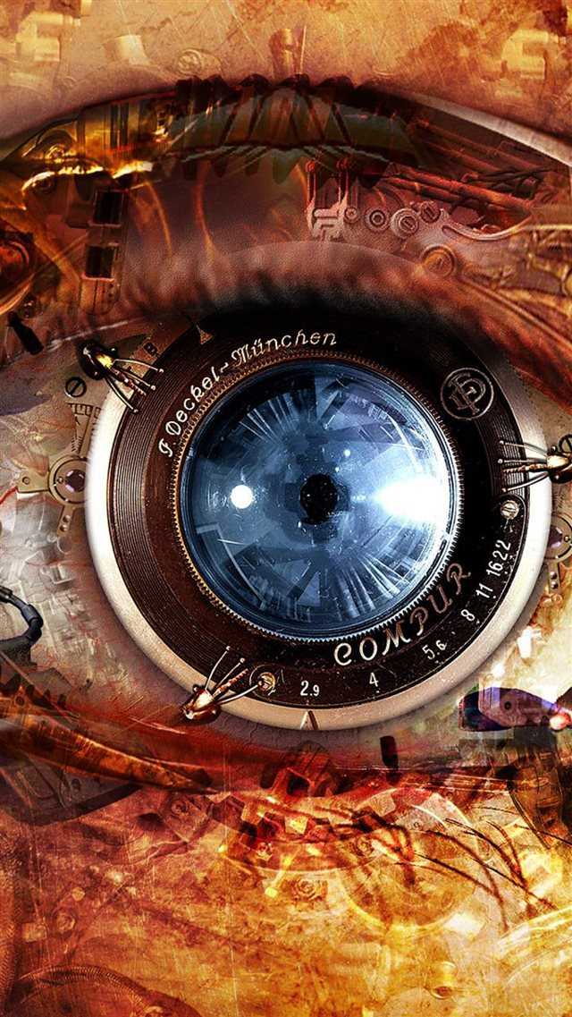 Mechanical Eye Steampunk  iPhone 8 wallpaper