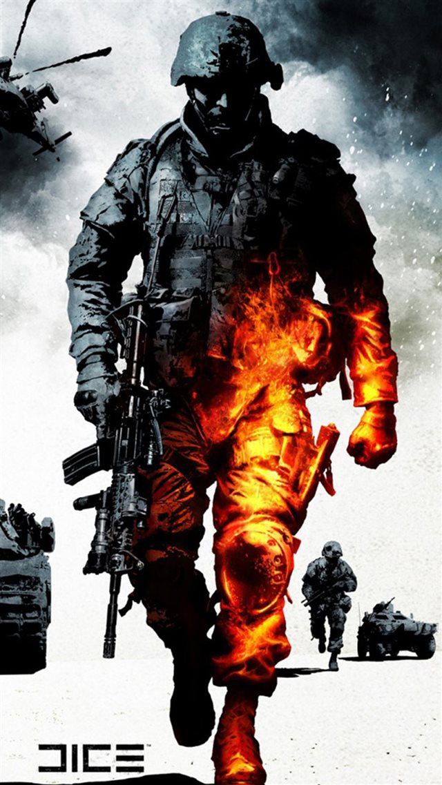 Military Burning Soldier IPhone 8 Wallpaper