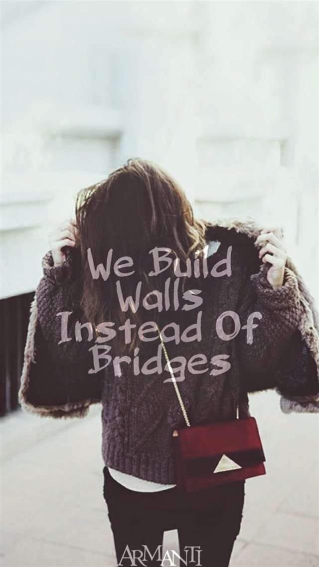 We Build Walls Instead Of Bridges iPhone 8 wallpaper