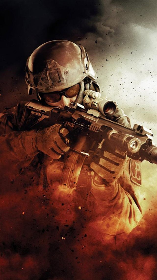 War Fire Fight Soldier Gun Weapon iPhone 8 wallpaper