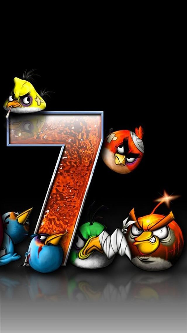 Angry Bird Game iPhone 8 wallpaper