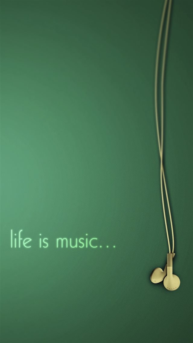 Life Is Music Simple Art iPhone 8 wallpaper