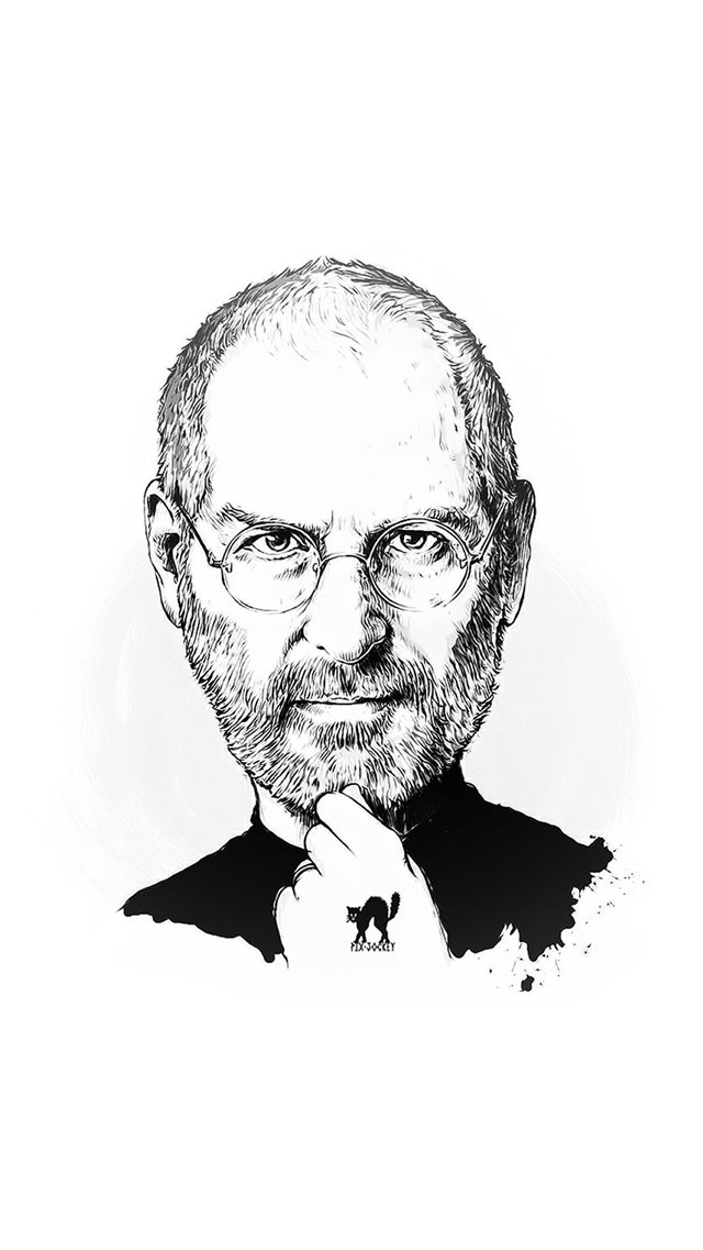 Steve Jobs Portraits Illustration iPhone 8 wallpaper