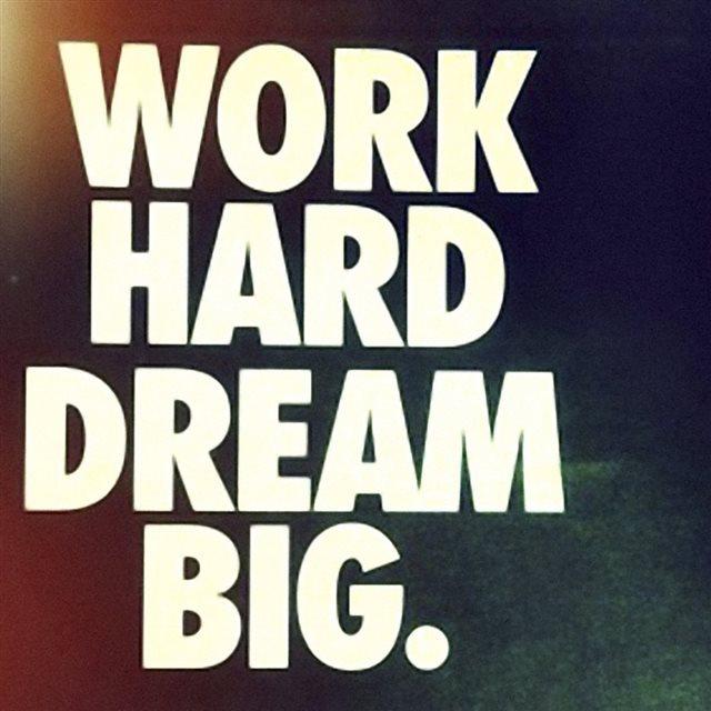 Wokr Hard Dream Big Ipad Wallpaper Download Iphone Wallpapers