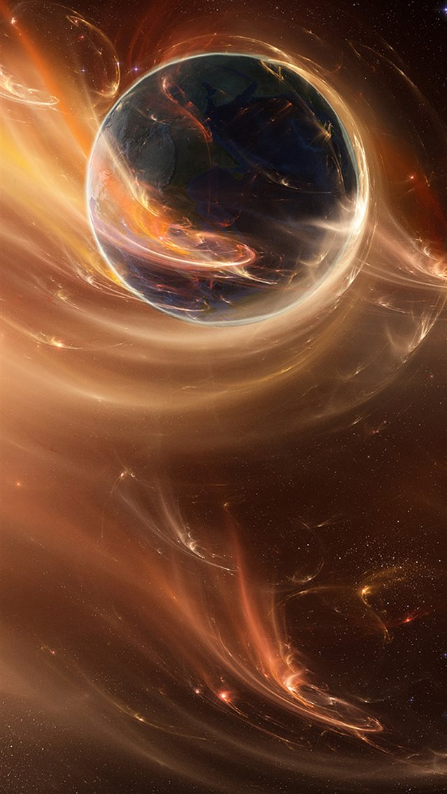 Great Abstract Space iPhone 8 wallpaper