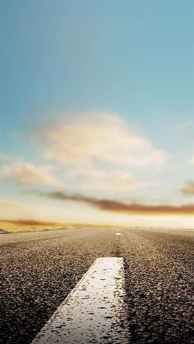 Endless Road In SKy iPhone 8 wallpaper