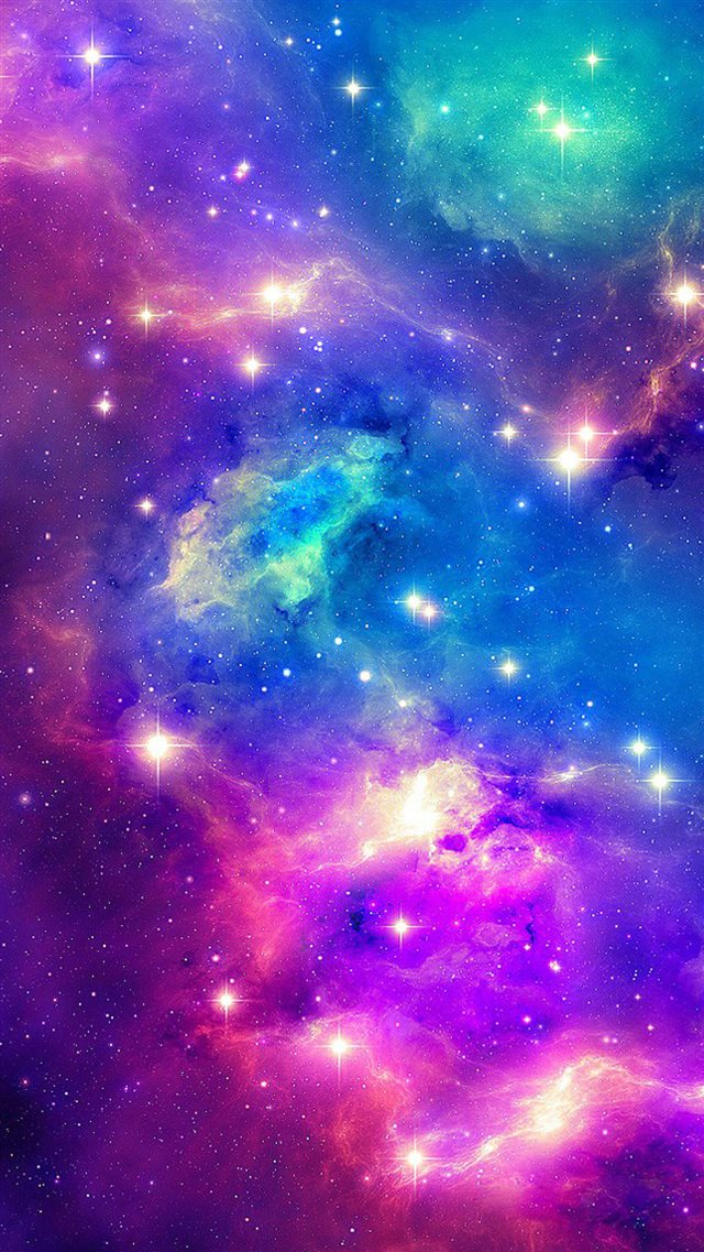 Sparkling Shiny Fantasy Outer Space iPhone 8 wallpaper