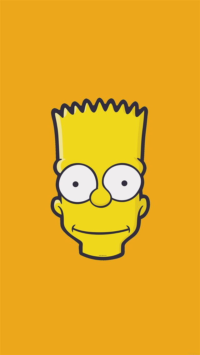 Bart Simpson Face Illust Art Yellow Minimal Simple iPhone 8 wallpaper