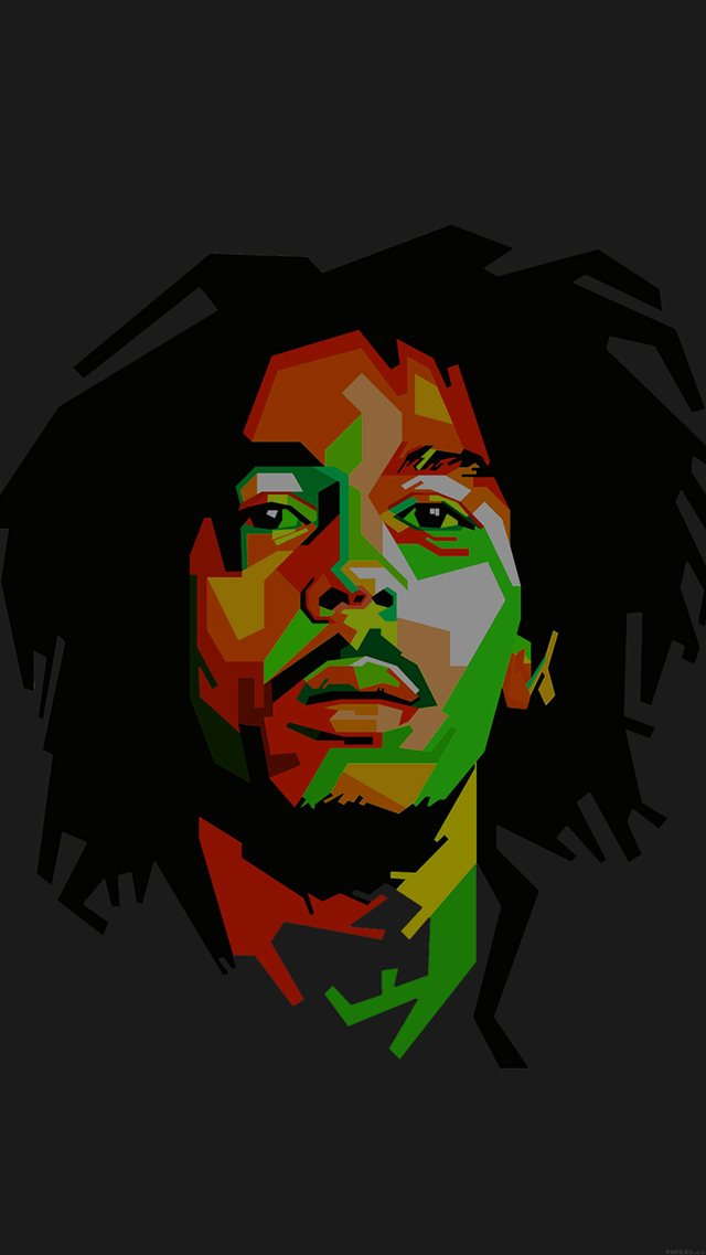 Bob Marley Dark Art Illust Music Reggae Celebrity iPhone 8 wallpaper