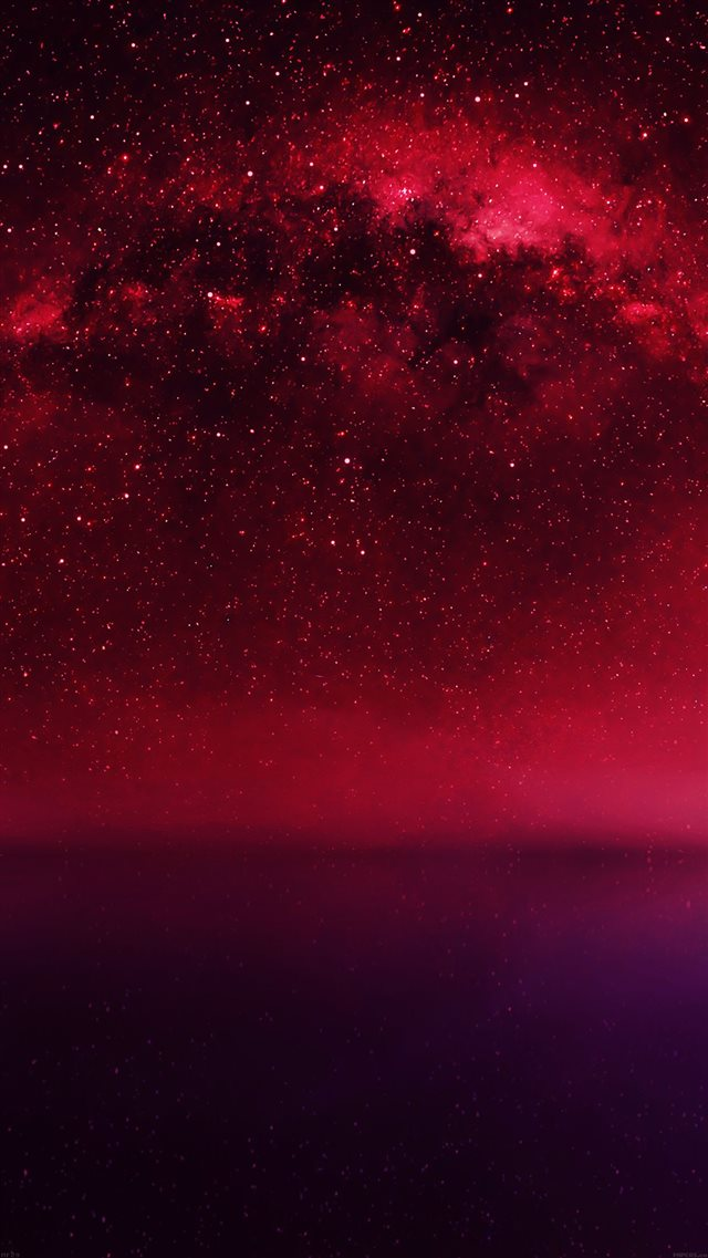 Cosmos Red Night Live Lake Space Starry Iphone 8 Wallpapers Free Download