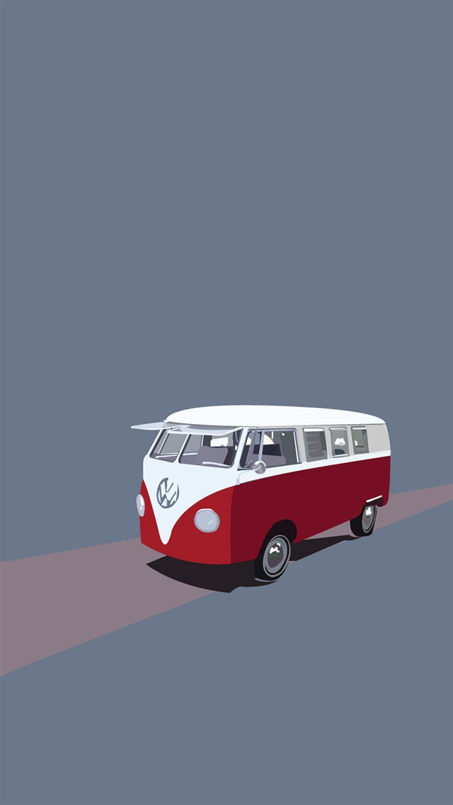 Toy Bus Illust Art iPhone 8 wallpaper