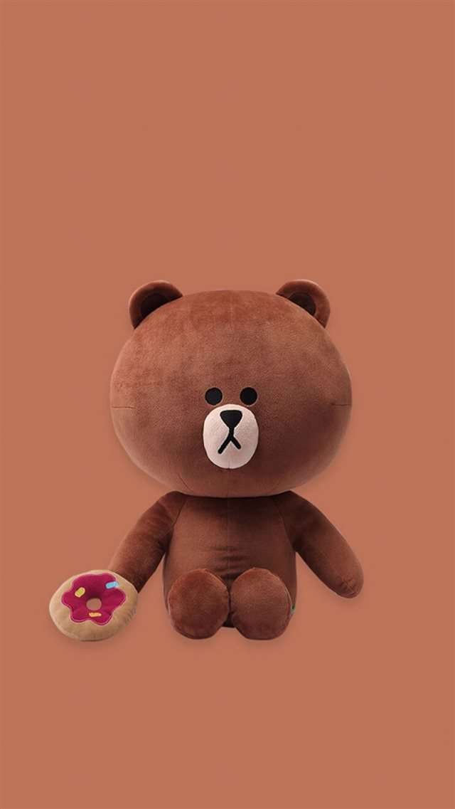 Rag Roll Cute Cartoon Bear iPhone 8 wallpaper