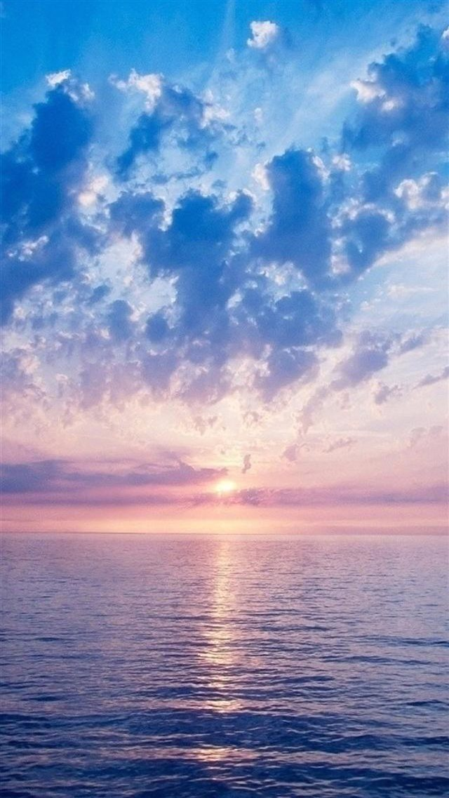 Nature Fantasy Purple Sunrise Scene Over Sea iPhone 8 wallpaper