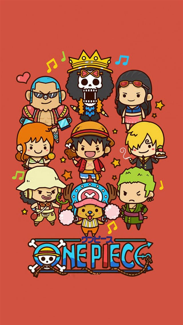 Cute Lovely One Piece Cartoon Poster iPhone 8 wallpaper