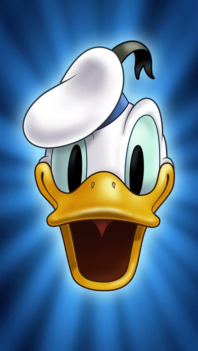 Cute Cartoon Donald Duck Face iPhone 8 wallpaper