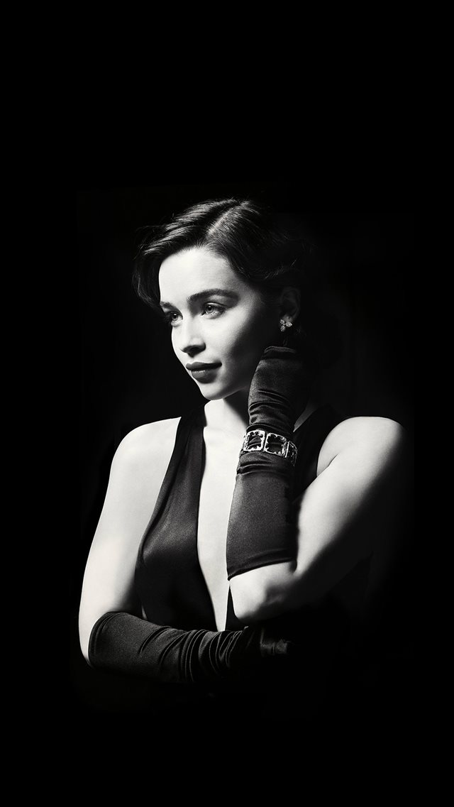 Emilia Clarke Dark Model Film Actress Holly iPhone 8 wallpaper