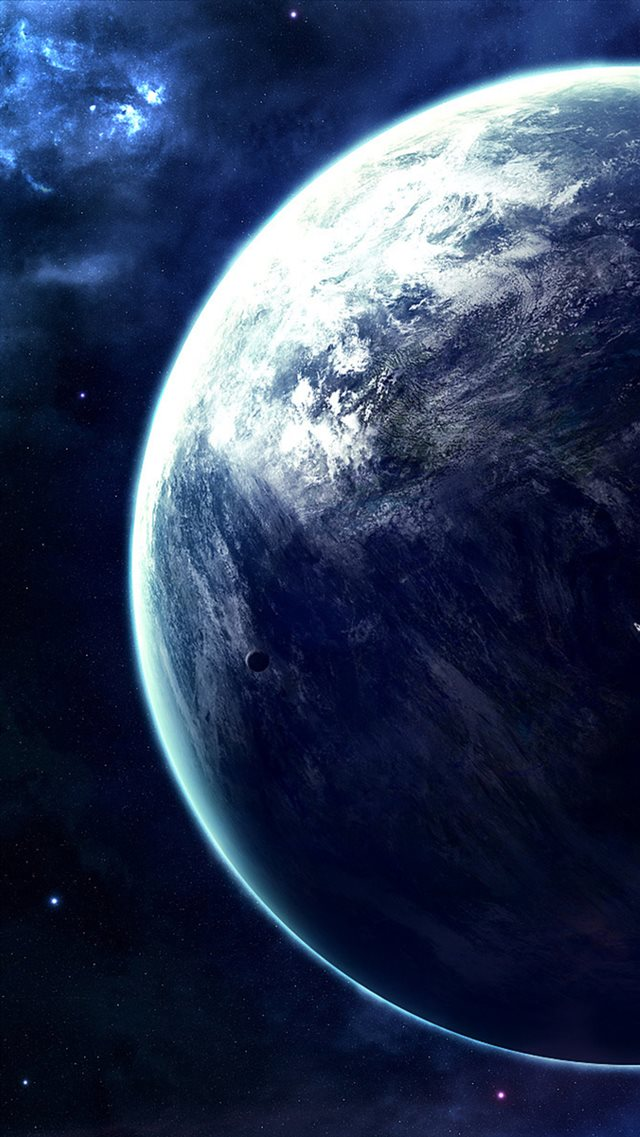 Spectacular Outer Space Planet View iPhone 8 wallpaper