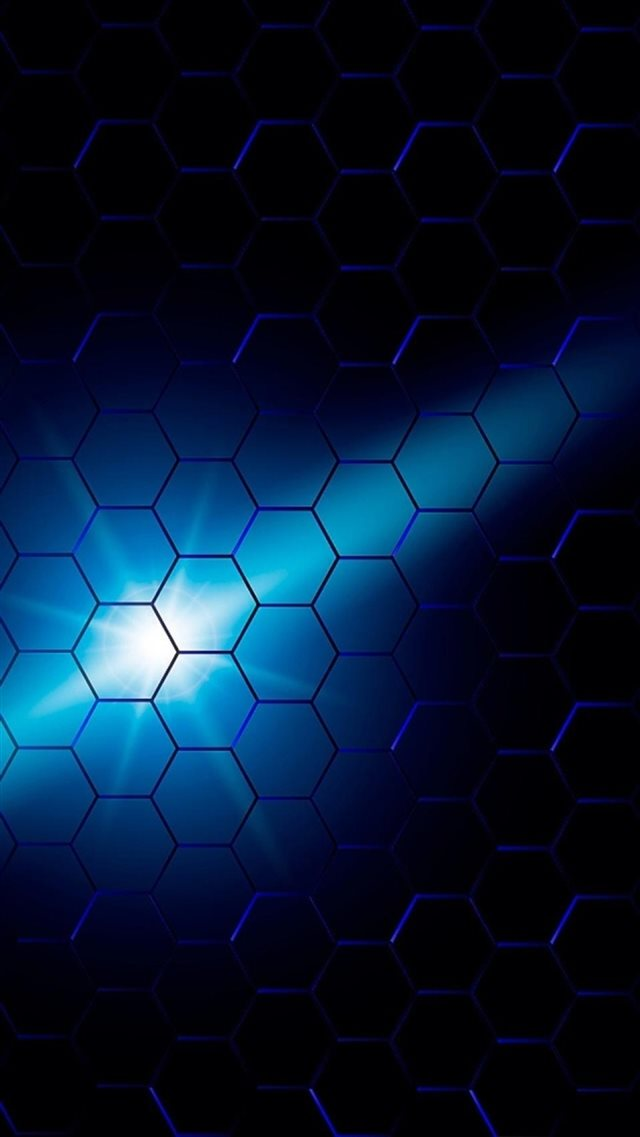 Blue Comb Background Light Luminescence iPhone 8 wallpaper