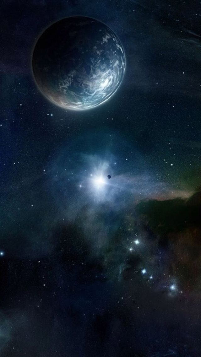 Outer Space Skyview Planet Starry Flare iPhone 8 wallpaper