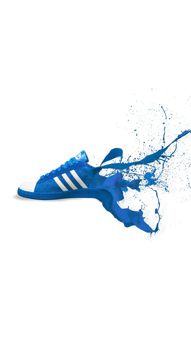Adidas Blue Shoes Sneakers Logo Art Iphone 8 Wallpaper Download