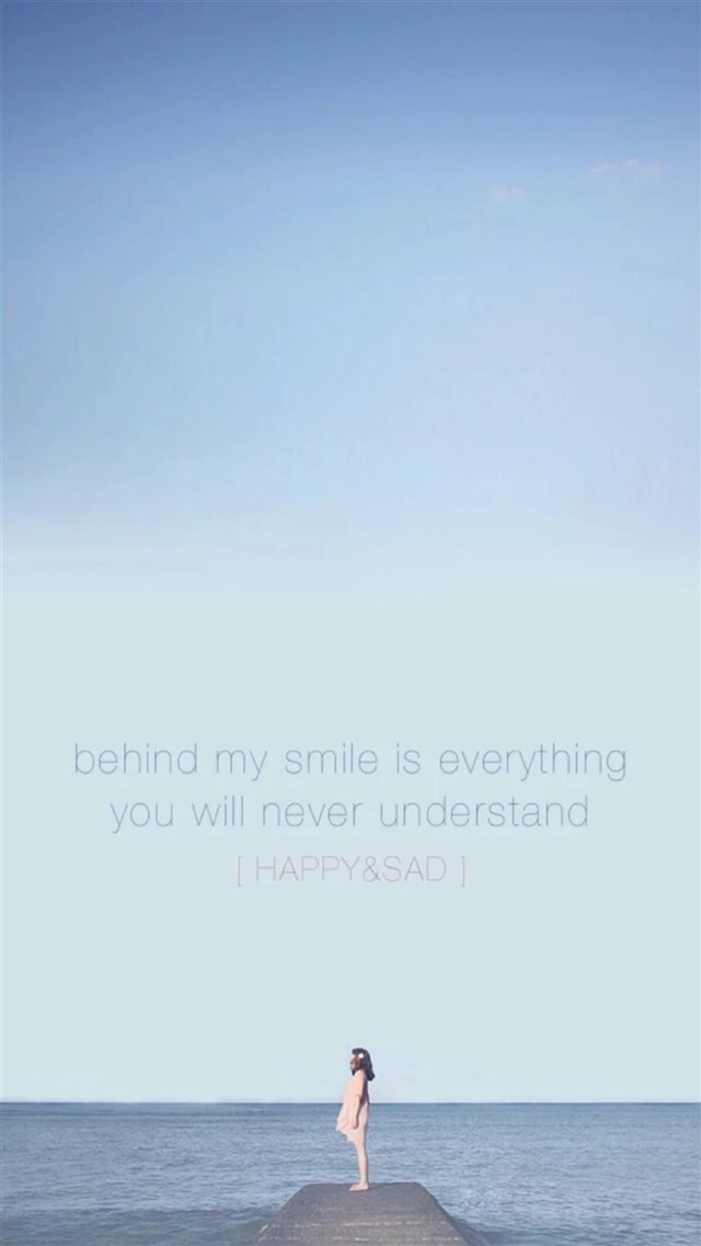 Nature Facing Vast Ocean Text Quotes Art iPhone 8 wallpaper