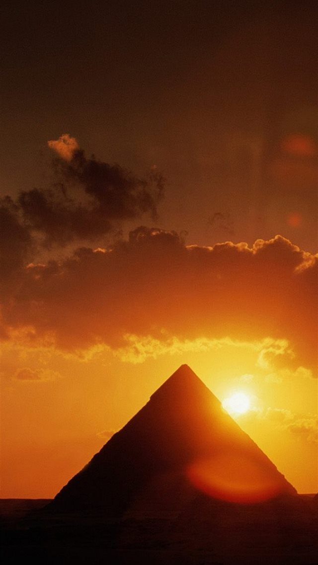 Nature Spectacular Pyramid Architecture Landscape iPhone 8 wallpaper