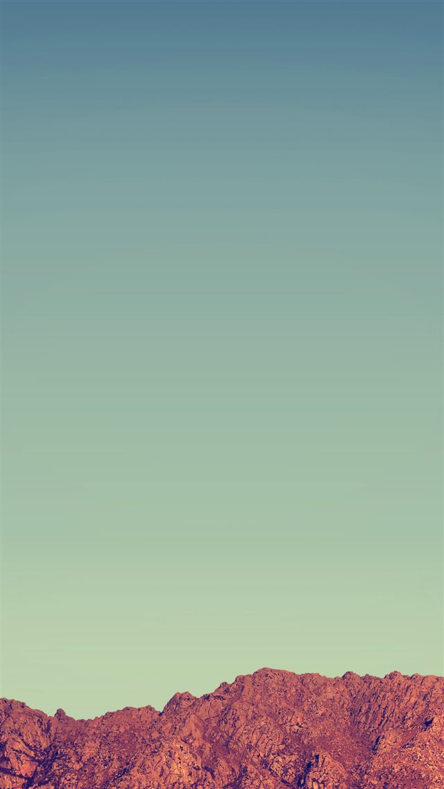 Pure Minimal Rock Mountain Blue Sky iPhone 8 wallpaper