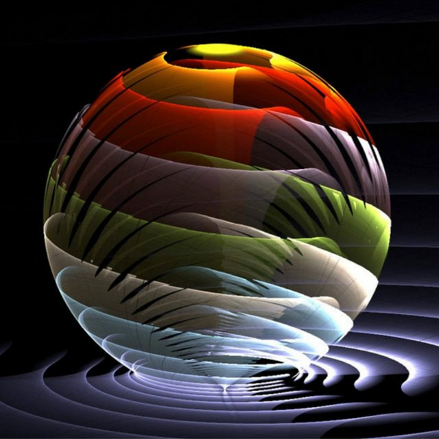 3D Spherical Colors iPad wallpaper