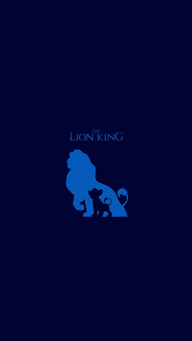 The Lion King Blue Minimal Art iPhone 8 wallpaper