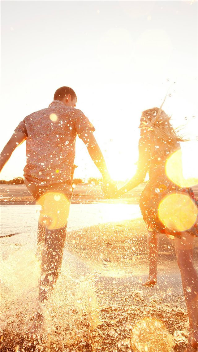 Couple Love Beach Happy Marry Me Nature iPhone 8 wallpaper