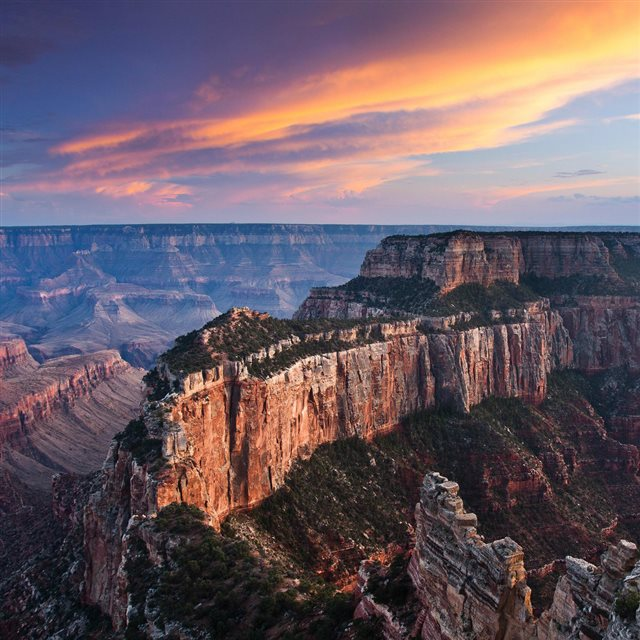Grand Canyon Evening Landscape iPad wallpaper