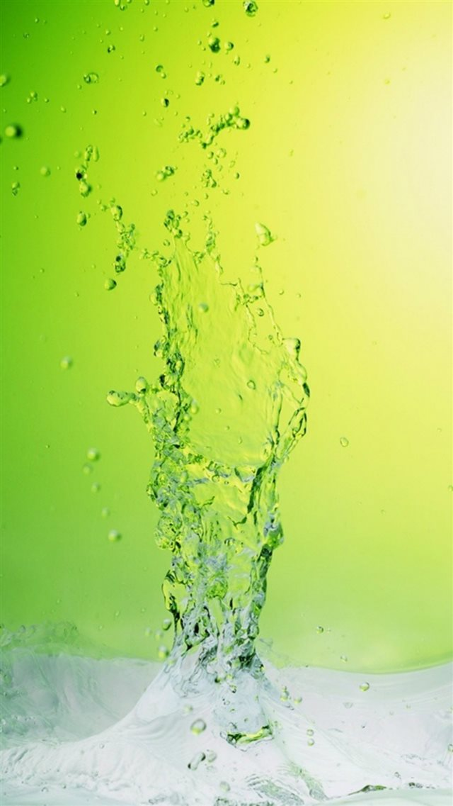 Abstract Crystal Icy Water Splash Green Background iPhone 8 wallpaper