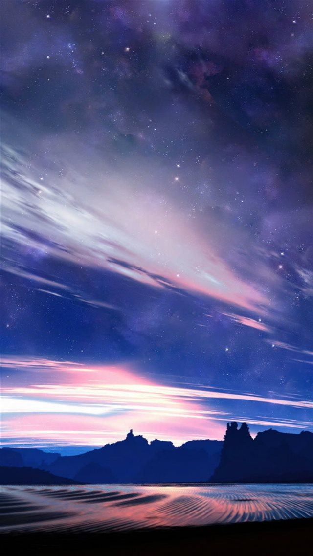 Nature Beautiful Starry Clouds Skyview iPhone 8 wallpaper